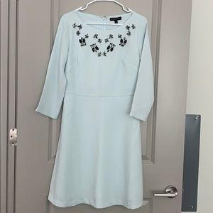 NEW WITH TAGS 3/4 sleeve sea green cocktail dress